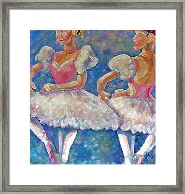 Framed Print featuring the painting Dance Ballerina by Rita Brown