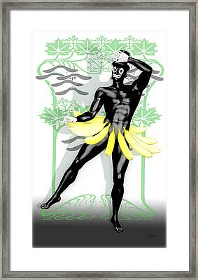 Banana Boy Framed Print by Quim Abella