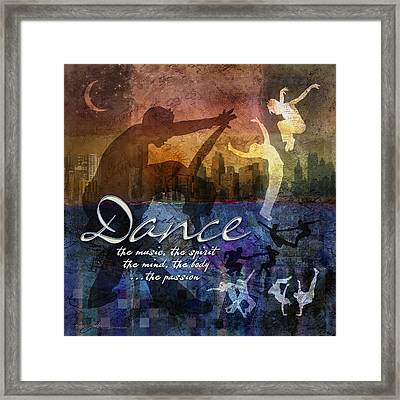 Dance Bright Colors Framed Print