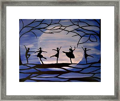 Dance By The Light Of The Moon Framed Print by Rachel Olynuk