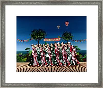 Dance Competition Framed Print