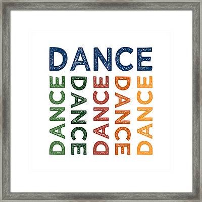 Dance Cute Colorful Framed Print by Flo Karp
