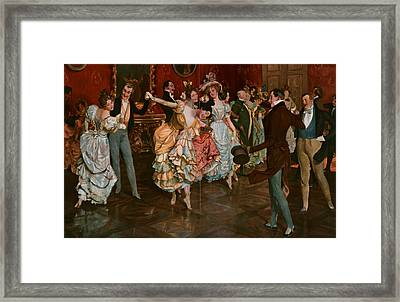 Dance. Dancing, Dancer, Young, Motion, Female, Male Framed Print