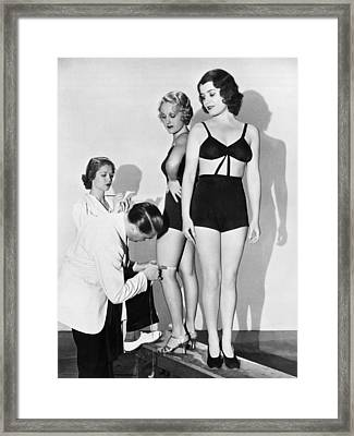 Dance Director Selecting Girls Framed Print