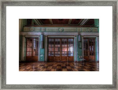 Dance Doors Framed Print by Nathan Wright