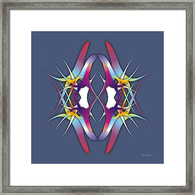 Dance Electric Framed Print by Walter Oliver Neal