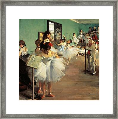 Dance Examination Framed Print by Edgar Degas
