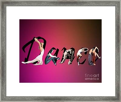 Framed Print featuring the digital art Dance Expressions by Megan Dirsa-DuBois