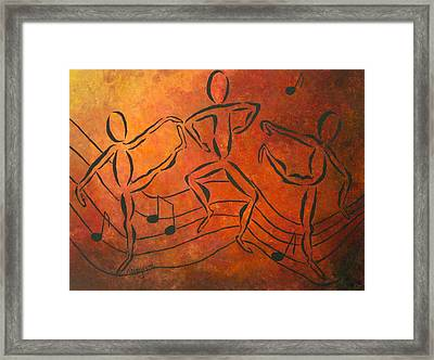 Dance Fever Framed Print by Pamela Allegretto