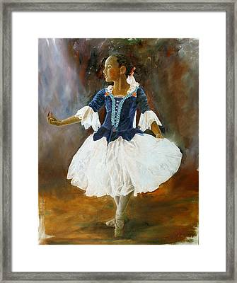 Framed Print featuring the painting Dance For Papa by Rick Fitzsimons