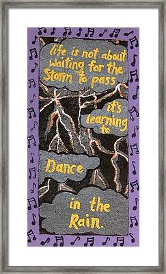 Dance In Rain Framed Print by Yvonne  Kroupa