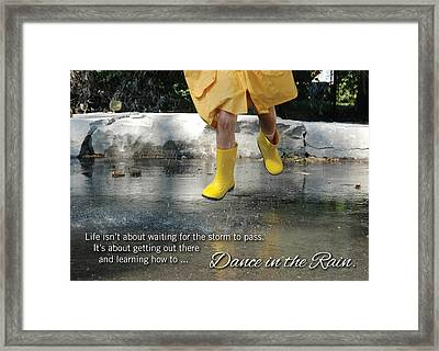 Dance In The Rain Framed Print