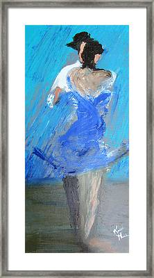 Dance In The Rain Framed Print by Keith Thue