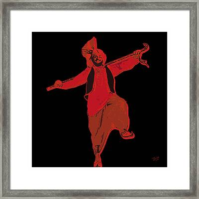 Framed Print featuring the painting Dance Like A Punjabi Man by Nop Briex