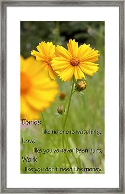 Dance Love Work 200509 Framed Print