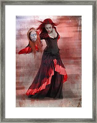 Dance Macabre Framed Print by Hazel Billingsley
