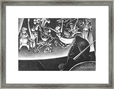 Dance Macabre Framed Print by Pg Reproductions