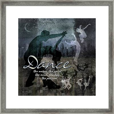 Dance Neutral Colors Framed Print