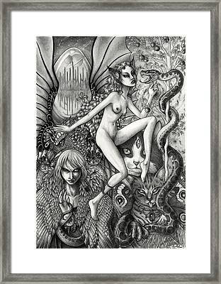 Dance Of Chaos Framed Print by Caroline Jamhour