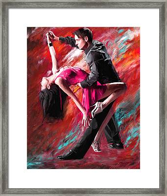 Dance Of Fire Framed Print