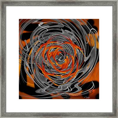 Dance Of Flame And Smoke Framed Print by Roy Erickson