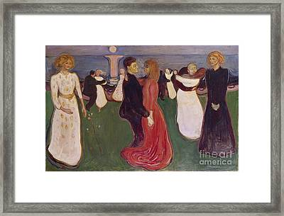 Dance Of Life Framed Print by Edvard Munch