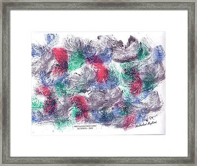 Dance Of Marriage S06 Framed Print by Mirfarhad Moghimi