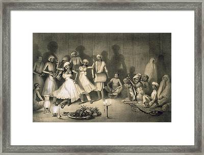 Dance Of Nautch Girls Framed Print by A Soltykoff