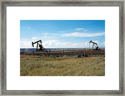 Dance Of Oil Framed Print