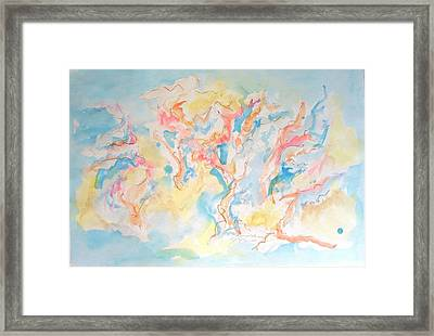 Framed Print featuring the painting Dance Of Olive Trees by Esther Newman-Cohen