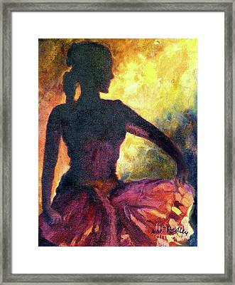 Dance Of Parvati Framed Print by Ann Radley