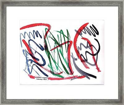 Dance Of Snakes 03 Framed Print by Mirfarhad Moghimi