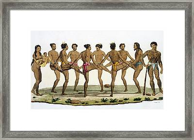 Dance Of The Caroline Islanders, Plate Framed Print by Felice Campi