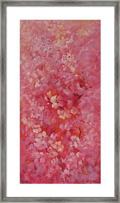 Dance Of The Cherry Blossoms Framed Print by Karin  Leonard