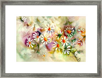 Dance Of The Daisies Framed Print