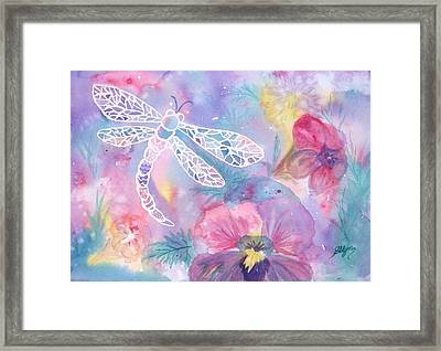 Dance Of The Dragonfly Framed Print