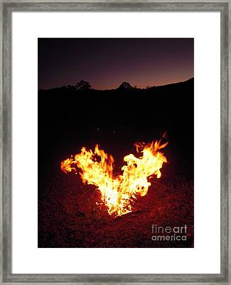 Framed Print featuring the photograph Fire In Your Heart by Ankya Klay