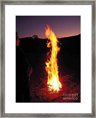 Framed Print featuring the photograph Woman In The Fire by Ankya Klay