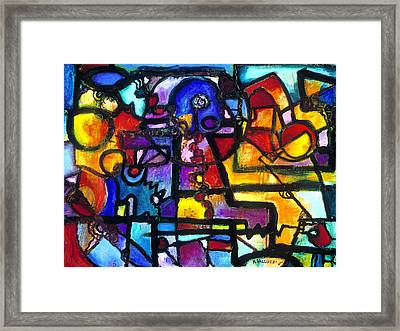 Dance Of The Gauge Bosons In Vacuum Framed Print