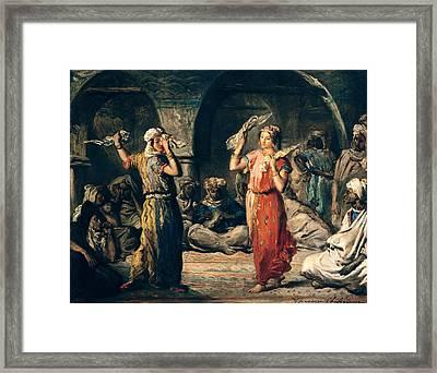 Dance Of The Handkerchiefs, 1849 Oil On Panel Framed Print