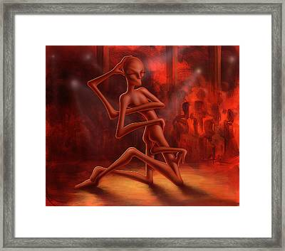 Dance Of The Medusa Framed Print by Achim Prill