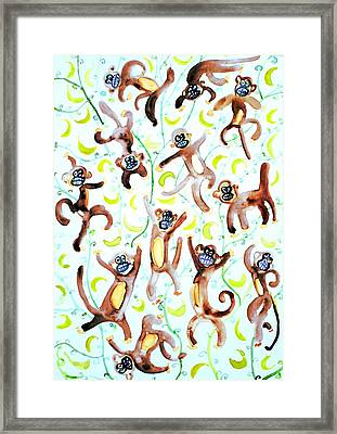 Dance Of The Monkeys Framed Print by Fabrizio Cassetta