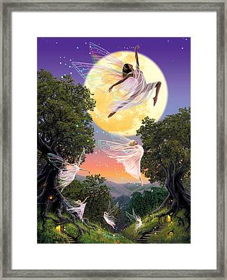 Dance Of The Moon Fairy Framed Print