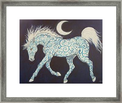 Dance Of The Moon Horse Framed Print by Beth Clark-McDonal