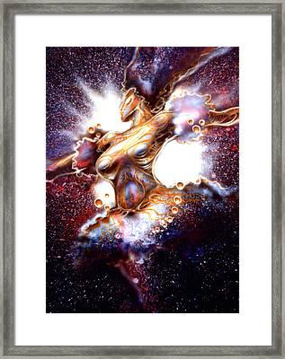 Dance Of The Nebula Framed Print