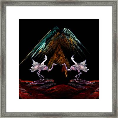 Framed Print featuring the digital art Dance Of The Paper Cranes by Kathleen Holley