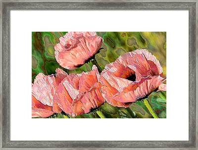 Dance Of The Poppies Framed Print