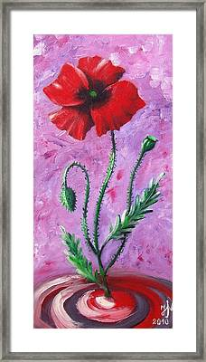 Dance Of The Poppy Framed Print