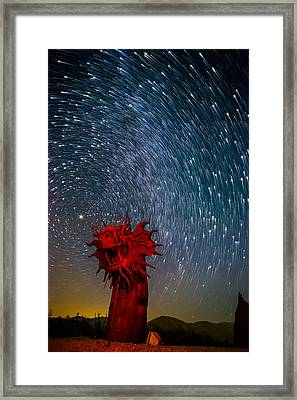 Dance Of The Star Serpent Framed Print
