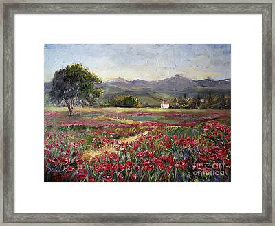 Dance Of The Tulips Framed Print by Jennifer Beaudet